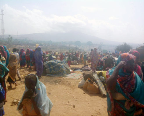 PEOPLE DISPLACED BY VIOLENCE IN THUR, JUNE 2016.