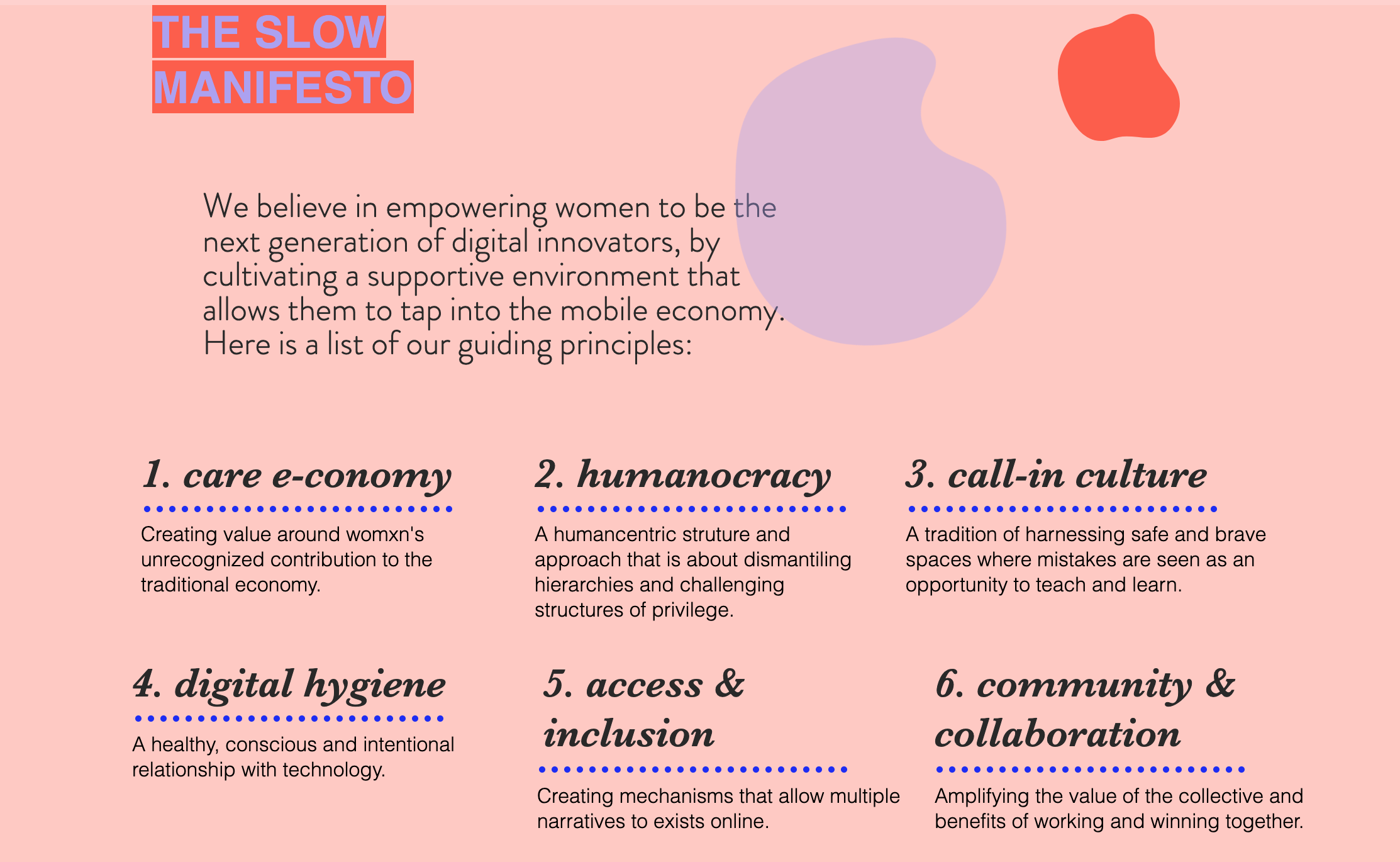 The Slow Manifesto